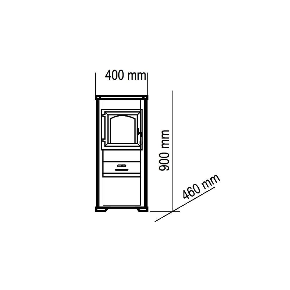 PIEC STALOWY ELIZA EKONOMIK LUZ - 8,6 kW NERGIS