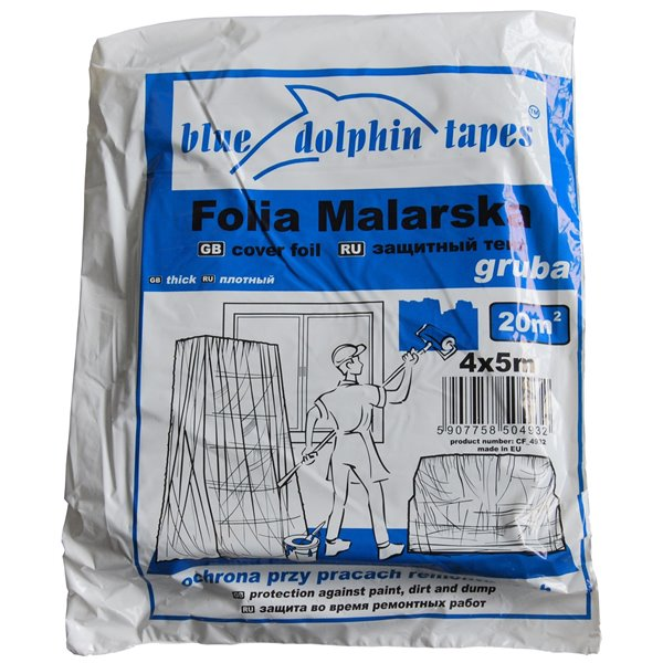 FOLIA MALARSKA BLUE DOLPHIN TAPES GRUBA 4x5m