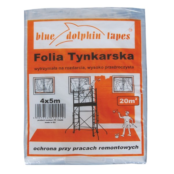 FOLIA TYNKARSKA BLUE DOLPHIN TAPES 4x5m