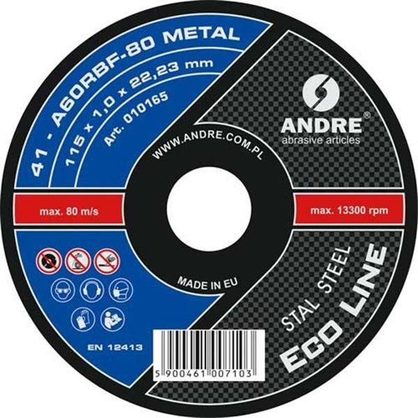 ANDRE ŚCIERNICA 41- 115 X 1,0 X 22,23 A60RBF - 80 METAL ECO LINE