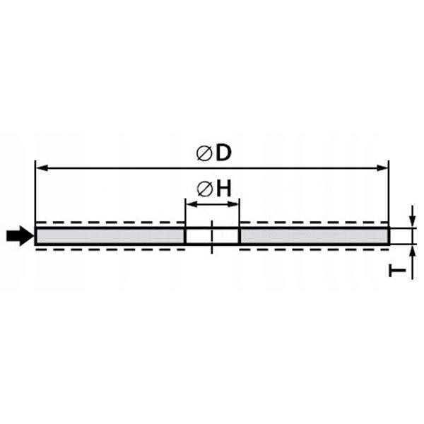 ANDRE ŚCIERNICA 41 - 230 X 2,5 X 22,23 A24RBF - 80 METAL ECO LINE